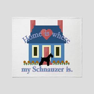 Standard Schnauzer Throw Blanket