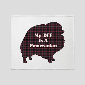 BFF Pomeranian Throw Blanket