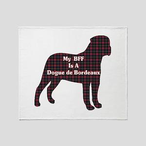 BFF Dogue de Bordeaux Throw Blanket