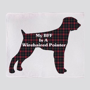 BFF Wirehaired Pointer Throw Blanket