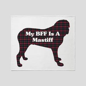 BFF English Mastiff Throw Blanket