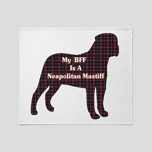 BFF Neapolitan Mastiff Throw Blanket