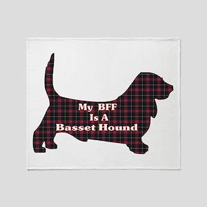 BFF Basset Hound Throw Blanket
