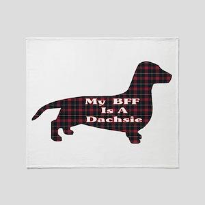 BFF Dachshund Throw Blanket