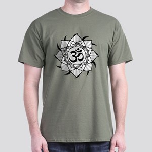 Lotus Aum Mandala Dark T-Shirt