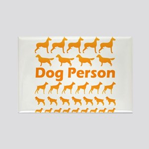 Dog Person Rectangle Magnet