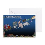 Even Santa Outsources Greeting Card
