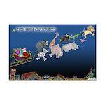 Even Santa Outsources Mini Poster Print