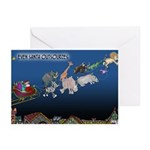 Even Santa Outsources Greeting Cards (Pk of 10)