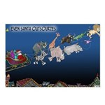 Even Santa Outsources Postcards (Package of 8)