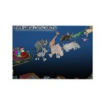Even Santa Outsources Rectangle Magnet (100 pack)
