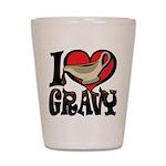 I Love Gravy Shot Glass
