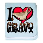 I Love Gravy baby blanket