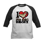 I Love Gravy Kids Baseball Jersey