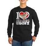 I Love Gravy Long Sleeve Dark T-Shirt