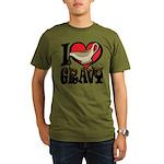 I Love Gravy Organic Men's T-Shirt (dark)