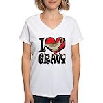 I Love Gravy Women's V-Neck T-Shirt
