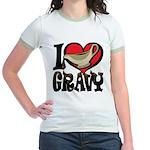I Love Gravy Jr. Ringer T-Shirt