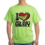 I Love Gravy Green T-Shirt