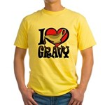 I Love Gravy Yellow T-Shirt