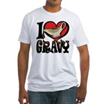 I Love Gravy Fitted T-Shirt