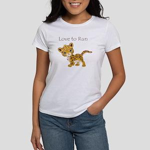 Love to Run Cheetah Women's T-Shirt