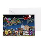 Santa Under New Management Greeting Card