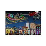 Santa Under New Management Rectangle Magnet