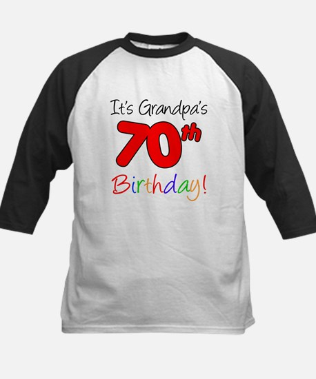 It's Grandpa's 70th Birthday Kids Baseball Jersey