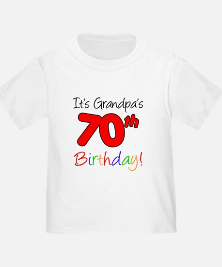 It's Grandpa's 70th Birthday T