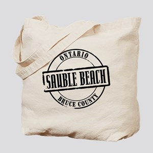 Sauble Beach Title Tote Bag