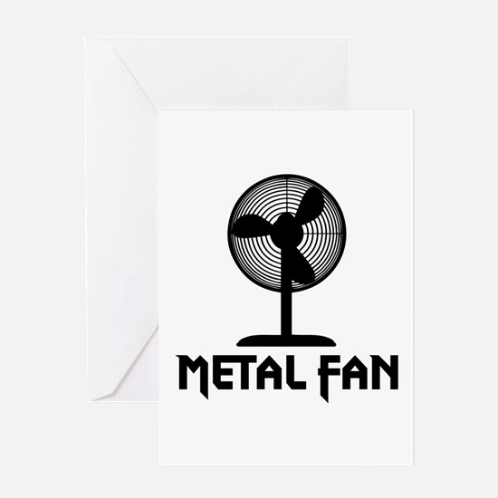 Metal Fan Greeting Card