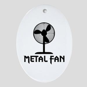 Metal Fan Ornament (Oval)