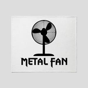 Metal Fan Throw Blanket