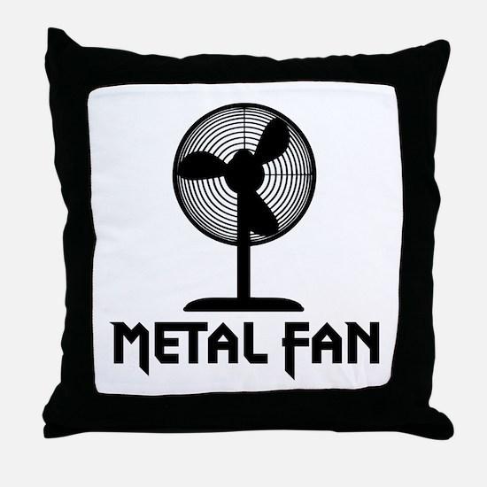 Metal Fan Throw Pillow