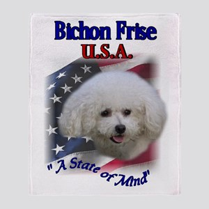 Bichon Frise Gifts Throw Blanket