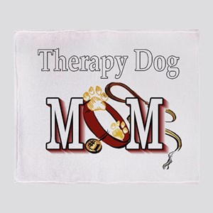 Therapy Dog Mom Throw Blanket