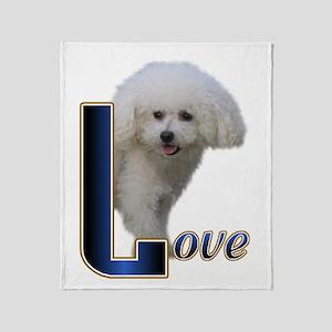 Bichon Frise Love Throw Blanket