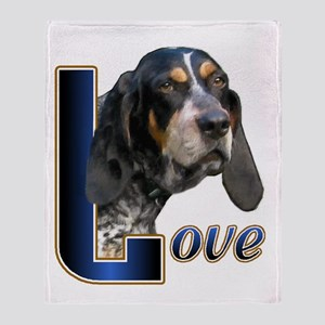 Bluetick Coonhound Love Throw Blanket