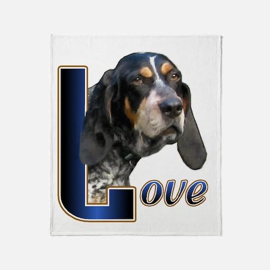 Bluetick Coonhound Love Throw Blanket