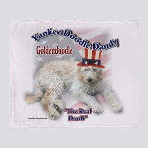 Yankee Goldendoodle Throw Blanket