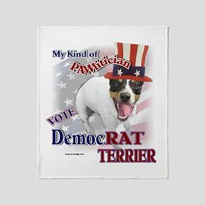 DemocRAT TERRIER Throw Blanket