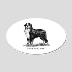 Bernese Mountain Dog 22x14 Oval Wall Peel