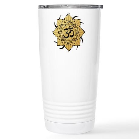 Golden Lotus Aum Stainless Steel Travel Mug