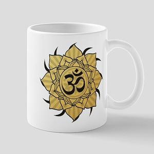 Golden Lotus Aum Mug