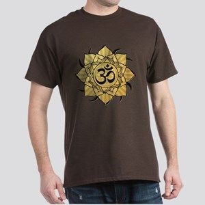 Golden Lotus Aum Dark T-Shirt