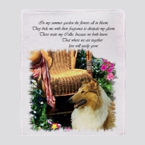 Collie Art Gifts Throw Blanket