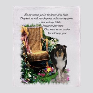 Tri-Color Collie Throw Blanket