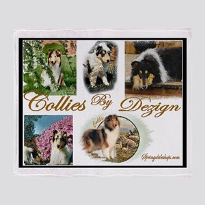 Rough Collies Art Throw Blanket