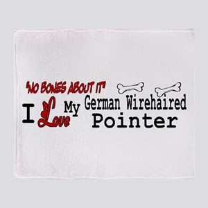 NB_German Wirehaired Pointer Throw Blanket